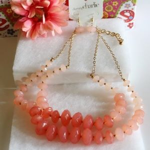 Charming Charlie Jewelry - New! Chunky Boho Coral Multi Strand Necklace Set